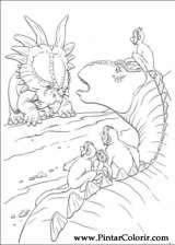 Pintar e Colorir Dinossauro - Desenho 015