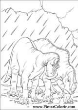 Pintar e Colorir Dinossauro - Desenho 016