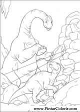 Pintar e Colorir Dinossauro - Desenho 018