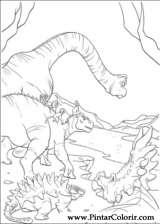 Pintar e Colorir Dinossauro - Desenho 019
