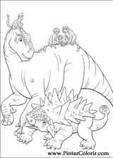 Pintar e Colorir Dinossauro - Desenho 020