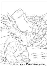 Pintar e Colorir Dinossauro - Desenho 021