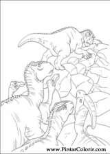 Pintar e Colorir Dinossauro - Desenho 022