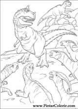 Pintar e Colorir Dinossauro - Desenho 024