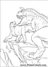 Pintar e Colorir Dinossauro - Desenho 025