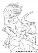 Pintar e Colorir Dinossauro - Desenho 026