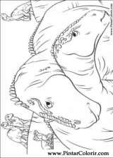 Pintar e Colorir Dinossauro - Desenho 027