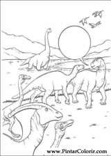 Pintar e Colorir Dinossauro - Desenho 028