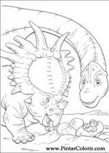 Pintar e Colorir Dinossauro - Desenho 030
