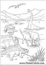 Pintar e Colorir Dinossauro - Desenho 031