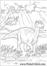 Pintar e Colorir Dinossauro - Desenho 032