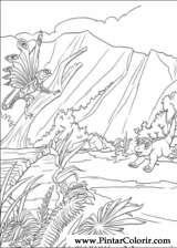 Pintar e Colorir Dinossauro - Desenho 033