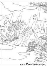 Pintar e Colorir Dinossauro - Desenho 034