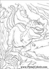 Pintar e Colorir Dinossauro - Desenho 036