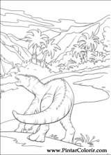Pintar e Colorir Dinossauro - Desenho 037