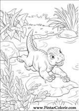Pintar e Colorir Dinossauro - Desenho 038