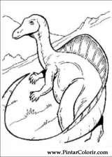Pintar e Colorir Dinossauro - Desenho 044