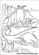 Pintar e Colorir Dinossauro - Desenho 046