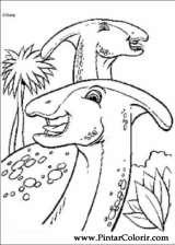 Pintar e Colorir Dinossauro - Desenho 047