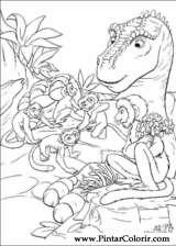 Pintar e Colorir Dinossauro - Desenho 049