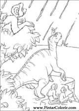 Pintar e Colorir Dinossauro - Desenho 051