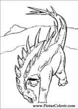 Pintar e Colorir Dinossauro - Desenho 052