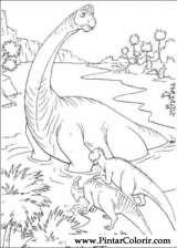 Pintar e Colorir Dinossauro - Desenho 057