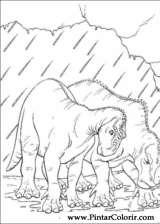 Pintar e Colorir Dinossauro - Desenho 058