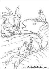 Pintar e Colorir Dinossauro - Desenho 059