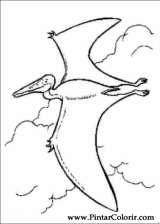 Pintar e Colorir Dinossauro - Desenho 061