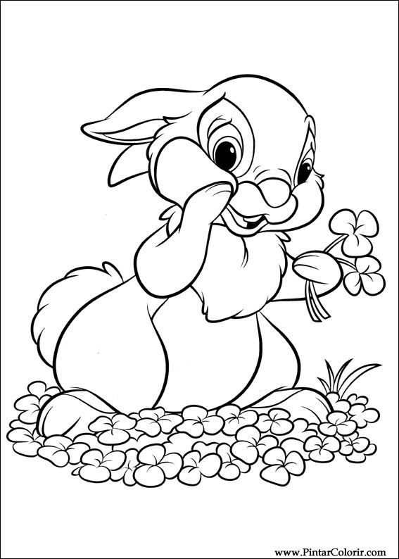 Drawings To Paint & Colour Disney Bunnies - Print Design 018