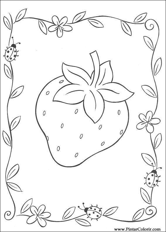 Zeichnungen Zu Malen Und Farbe Strawberry Sweetheart