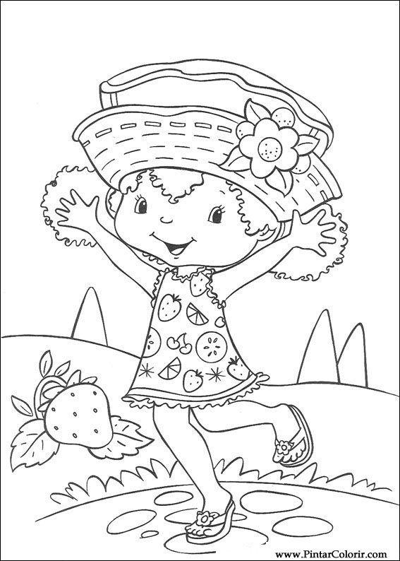 Pintar e Colorir Docinho De Morango - Desenho 025