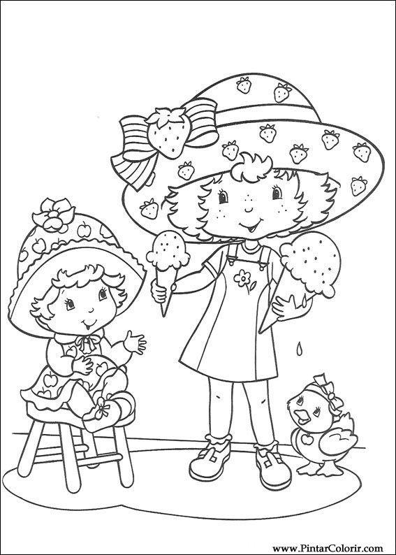 Pintar e Colorir Docinho De Morango - Desenho 029