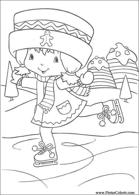 Pintar e Colorir Docinho De Morango - Desenho 048