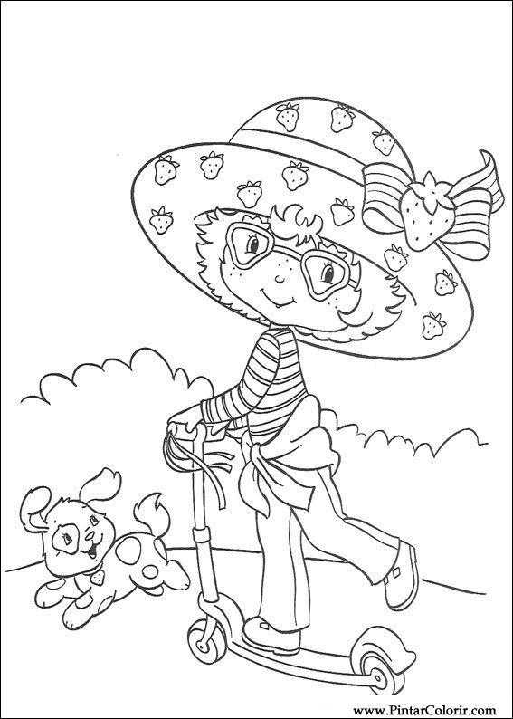 Dibujos para pintar y color fresa Sweetheart - Diseño de impresión 050