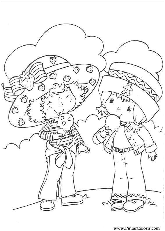 Pintar e Colorir Docinho De Morango - Desenho 054