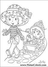 Pintar e Colorir Docinho De Morango - Desenho 005