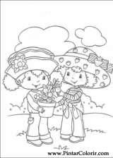 Pintar e Colorir Docinho De Morango - Desenho 012