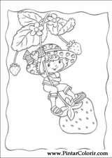 Pintar e Colorir Docinho De Morango - Desenho 015