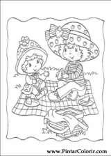 Pintar e Colorir Docinho De Morango - Desenho 017