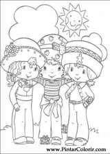 Pintar e Colorir Docinho De Morango - Desenho 021