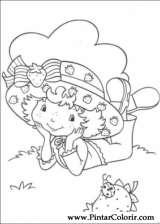 Pintar e Colorir Docinho De Morango - Desenho 022