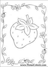 Pintar e Colorir Docinho De Morango - Desenho 023