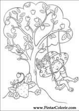 Pintar e Colorir Docinho De Morango - Desenho 024