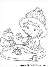 Pintar e Colorir Docinho De Morango - Desenho 027