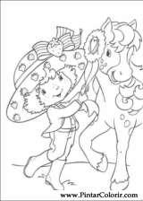 Pintar e Colorir Docinho De Morango - Desenho 031