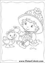 Pintar e Colorir Docinho De Morango - Desenho 033