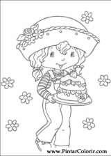 Pintar e Colorir Docinho De Morango - Desenho 040