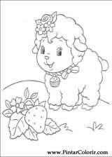 Pintar e Colorir Docinho De Morango - Desenho 041